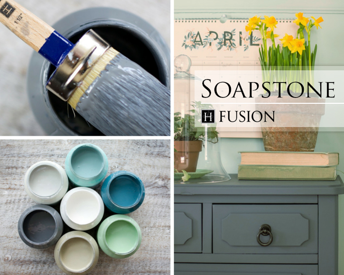 Fusion mineral paint in Soapstone from the Penney & Co. Collection - available at My Painted Door (.com)