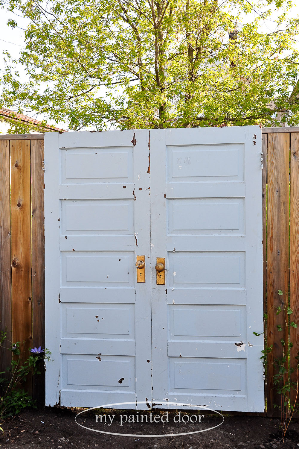 Before shot - Repurposed doors for your garden