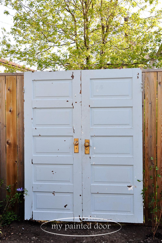 Before shot -Repurposed doors for your garden