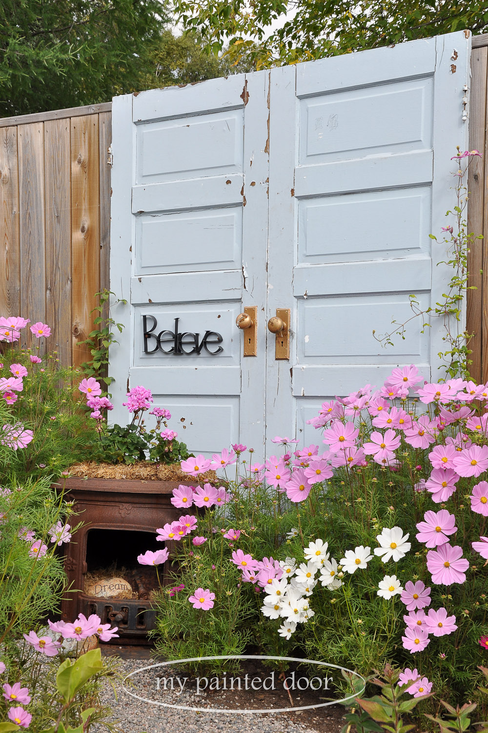 Repurposed doors for your garden