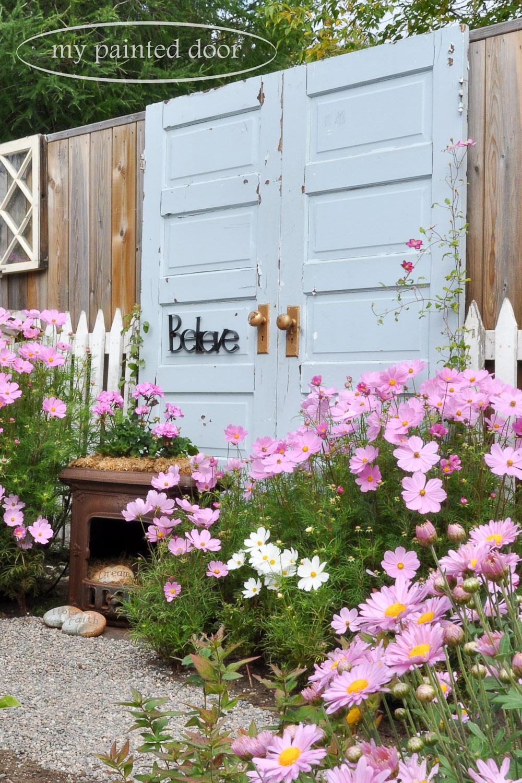 Repurposed doors for your garden