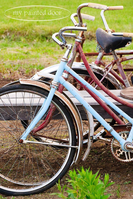 vintage bikes for my garden