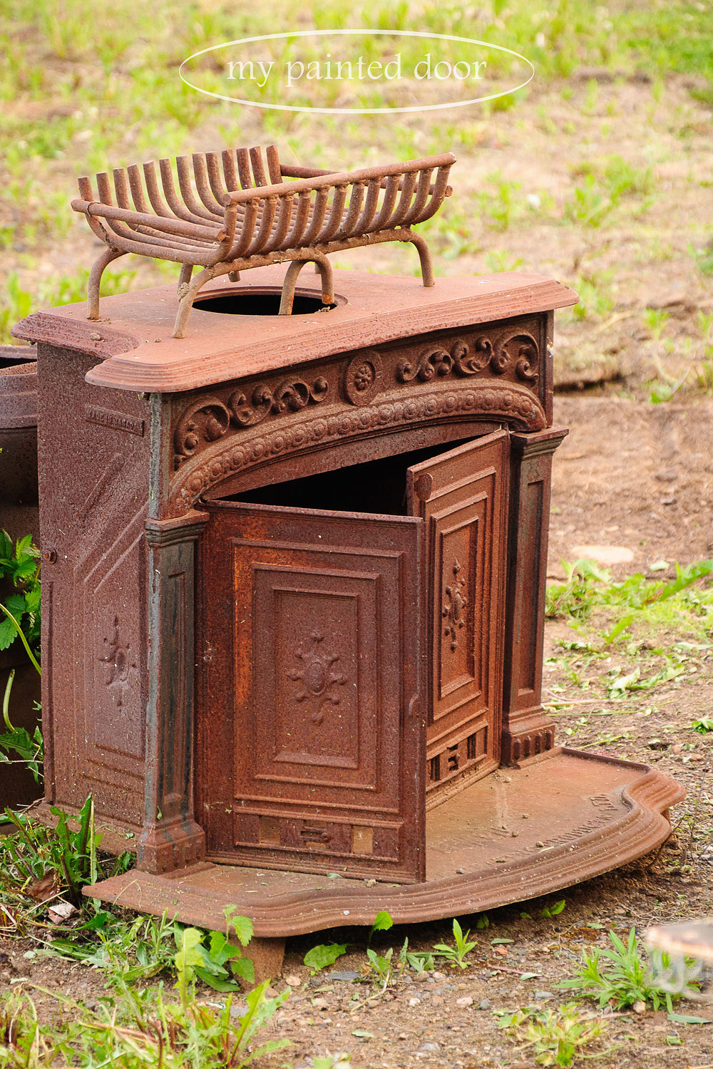 rusty firebox for my garden