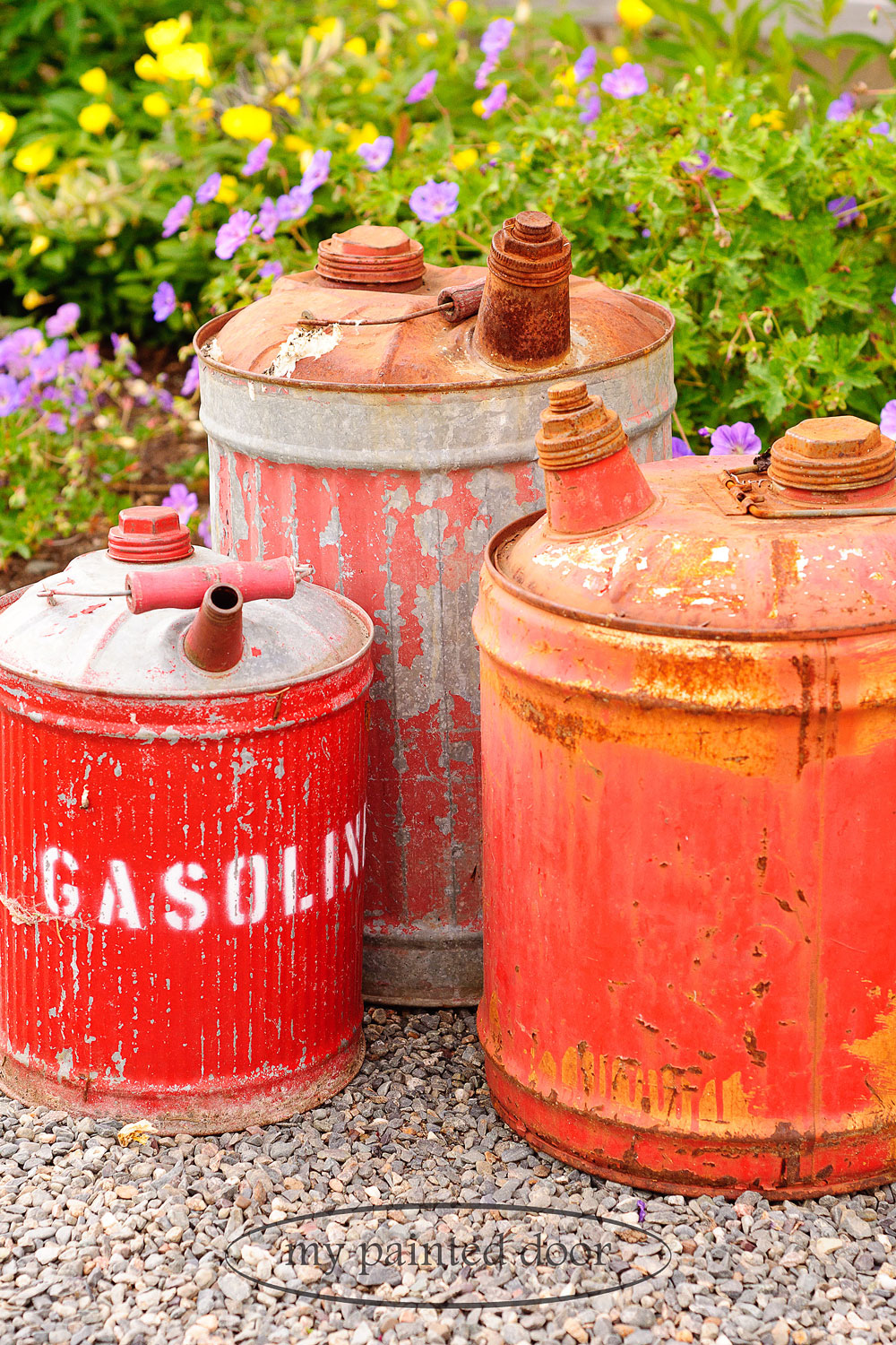 Vintage gas cans