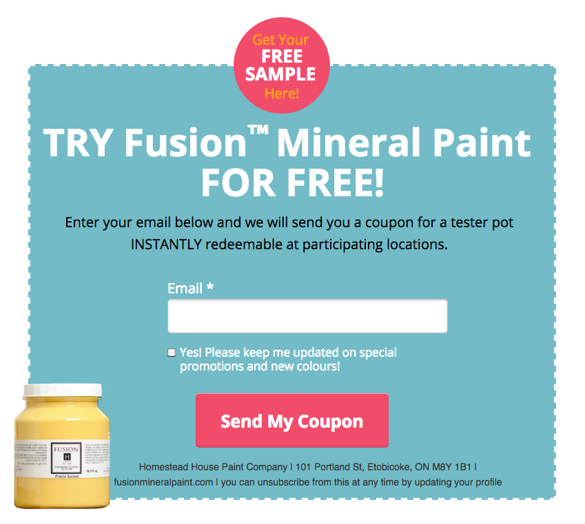 Fusion Mineral Paint coupon