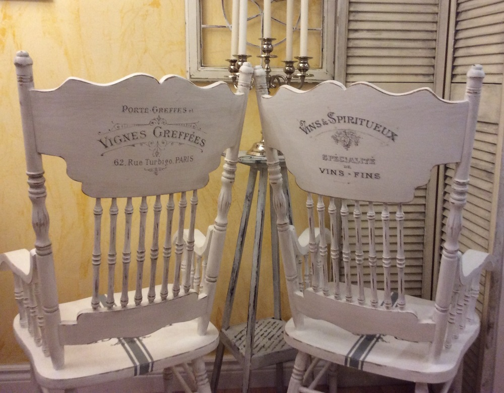 Chairs painted and photographed by Rose Nicolas from Winnipeg, Manitoba