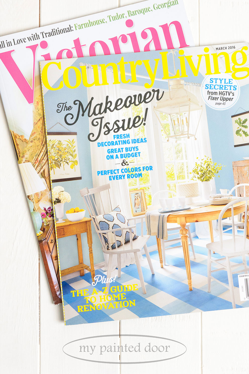 Miss Mustard Seed is featured in Victorian Homes and Country Living magazines.
