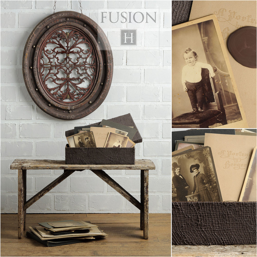 Chocolate Fusion Mineral Paint (Styling and photography: My Painted Door).