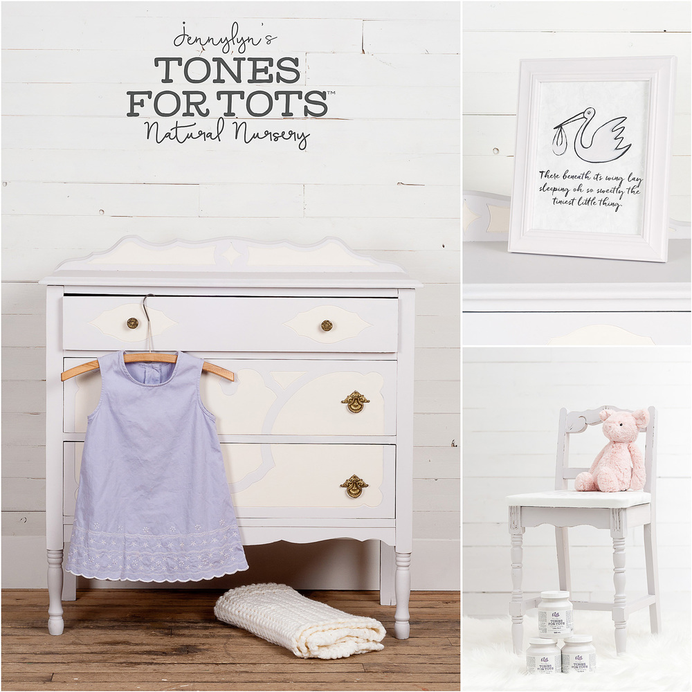 Finally, the perfect warm shade of lavender! This gentle colour is just begging to revitalize your next DIY project. You're going to love Little Stork! It's a match made-in-heaven of on-trend purple and light gray.
