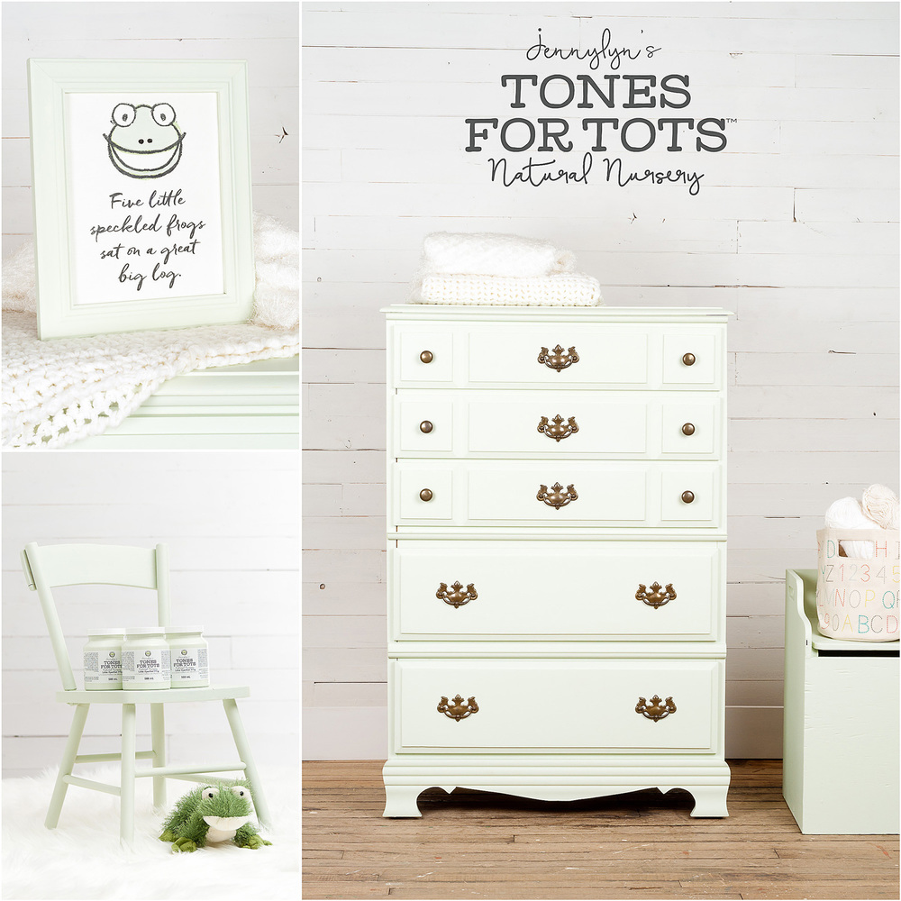 Dresser and Chair Painted in Fusion Mineral Paint Little Speckled Frog