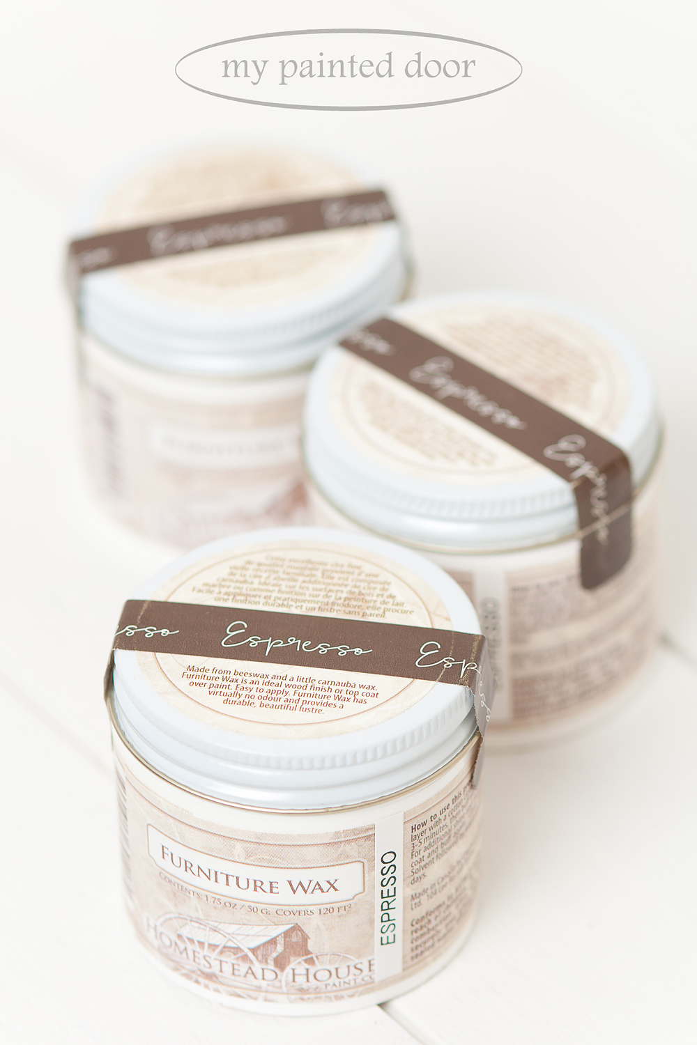 Homestead House Espresso Furniture Wax now available at My Painted Door.