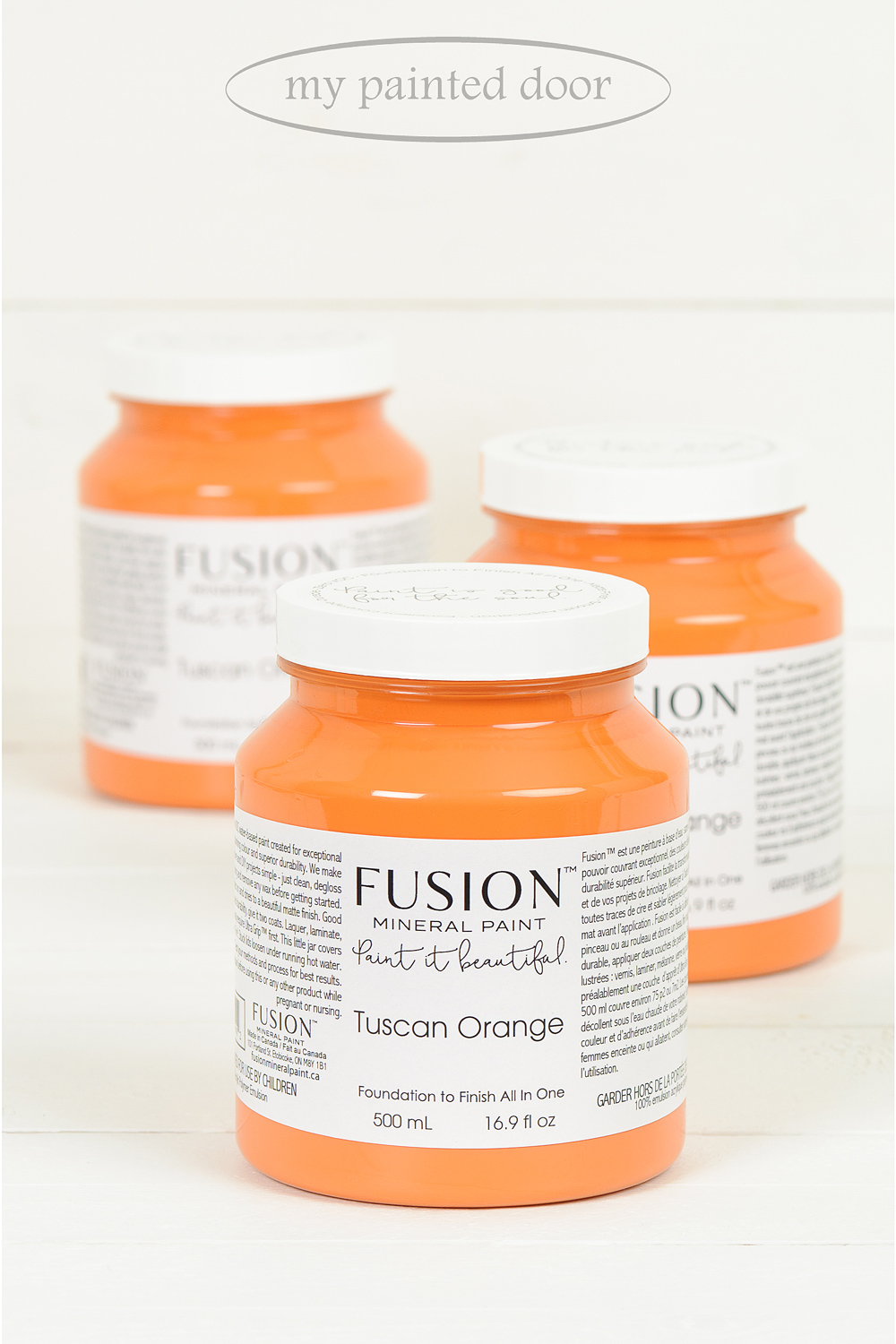 Tuscan Orange ▪ A rustic orange - red, inspired by the uniquely coloured brick found in Tuscany and the beautiful Italian landscape.  Fusion Mineral Paint available at My Painted Door (.com)