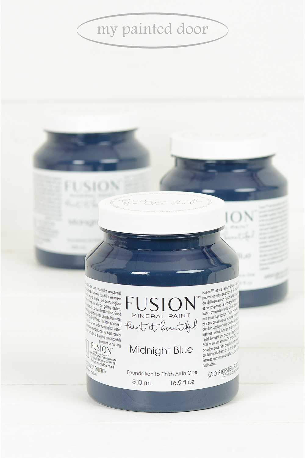 Midnight Blue ▪ This on trend rich dark blue on the edge of black is bound to make a statement and enrich any piece.  Fusion Mineral Paint available at My Painted Door (.com)