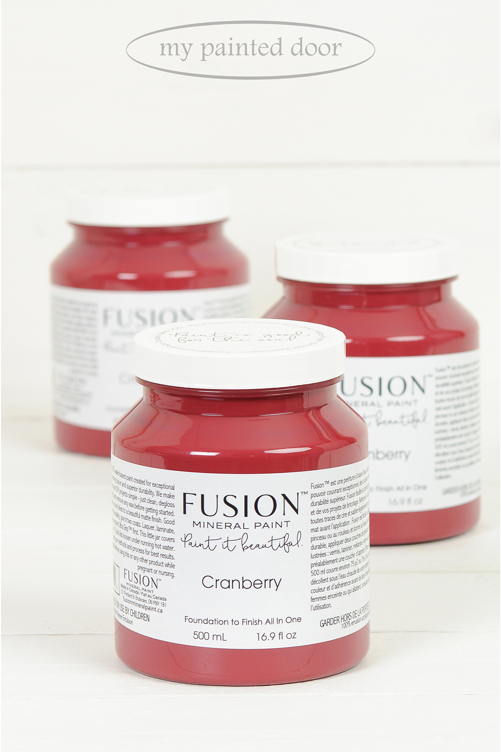 Cranberry ▪ A natural luscious burgundy red reminiscent of cranberries. A true statement colour. Fusion Mineral Paint available at My Painted Door (.com)