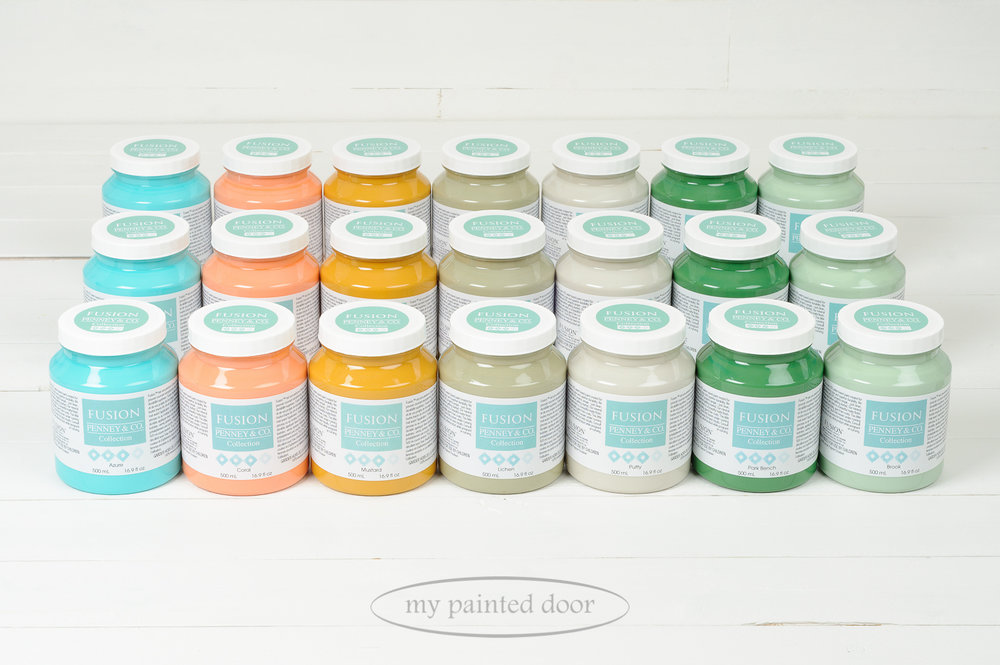 13 New Fusion Mineral Paint colours to choose from! Here are seven new colours in the Penney and Co. Collection. Available at My Painted Door!