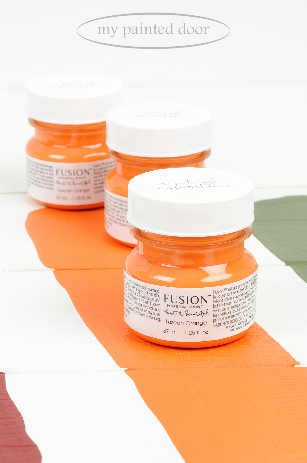 Tuscan Orange ▪ One of the 13 New Fusion Mineral Paint colours! Available on-line at My Painted Door.