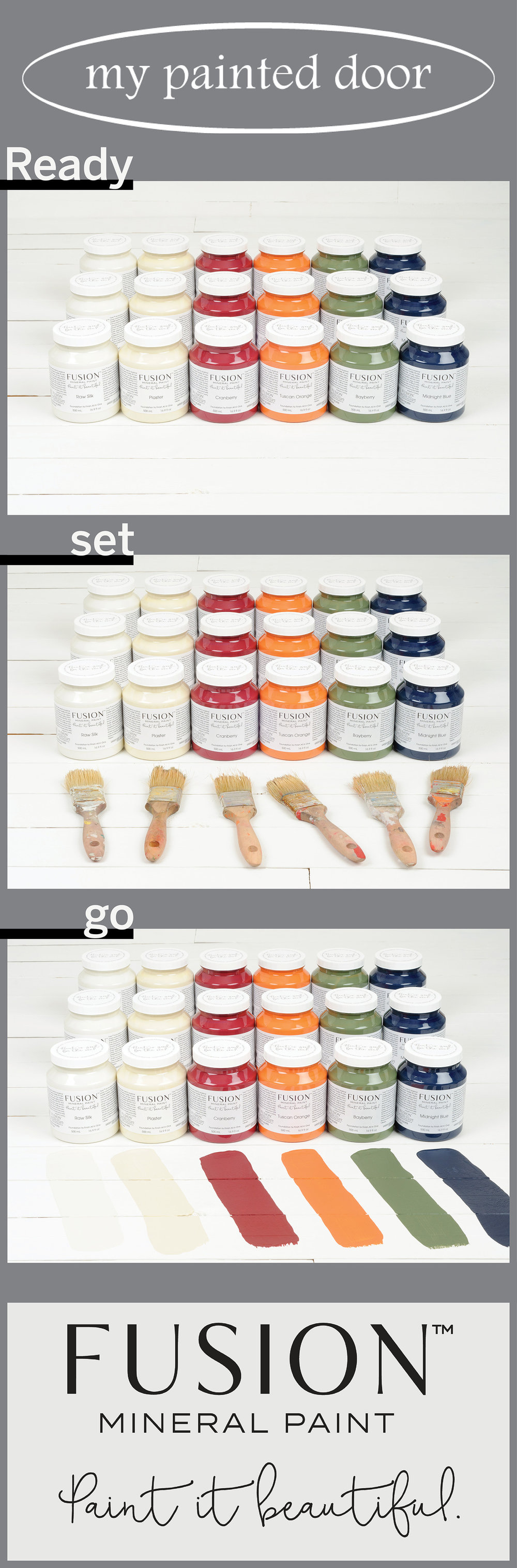 Fusion Mineral Paint ▪ 13 new colours to choose from! Available on-line at My Painted Door.