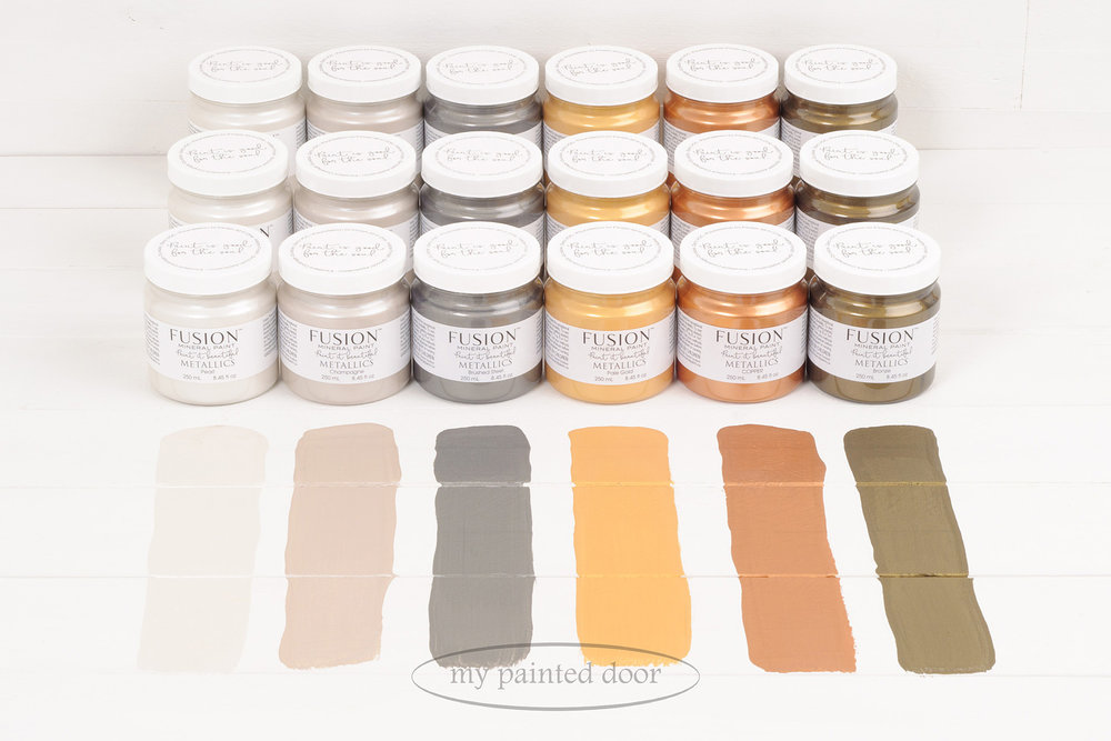 The Metallic Collection of Fusion Mineral Paint is available in 6 colours.