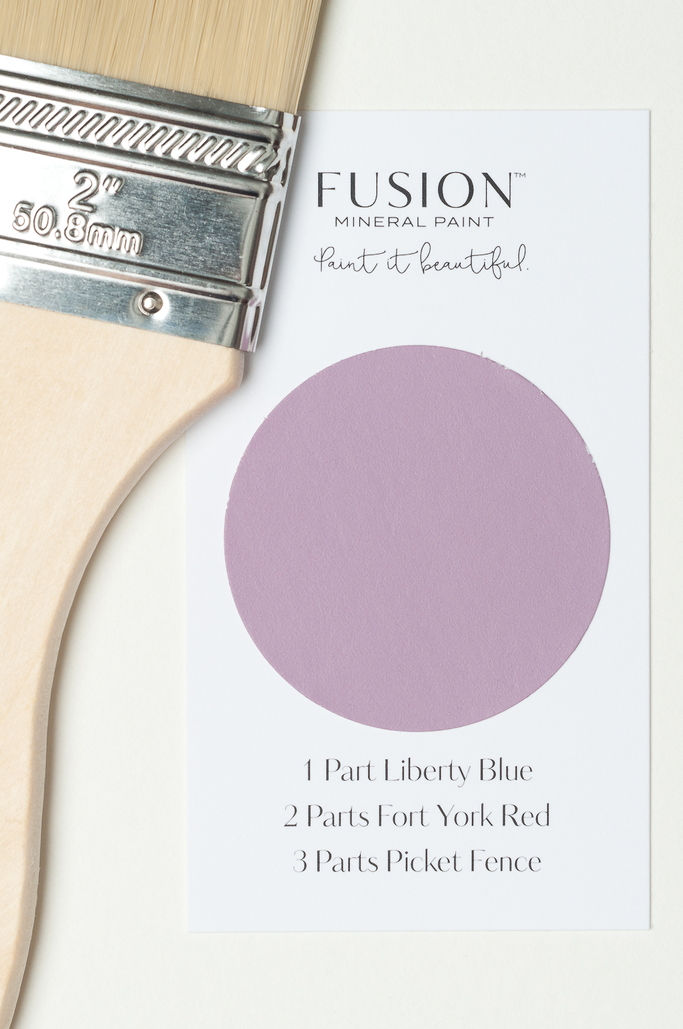 Isn't this a gorgeous Mauve?It's simple to mix Fusion Mineral Paint to create your own custom paint colours. This little recipe card shows you how. There are 32 recipes to choose from! You can see all the custom blend recipes on my website.