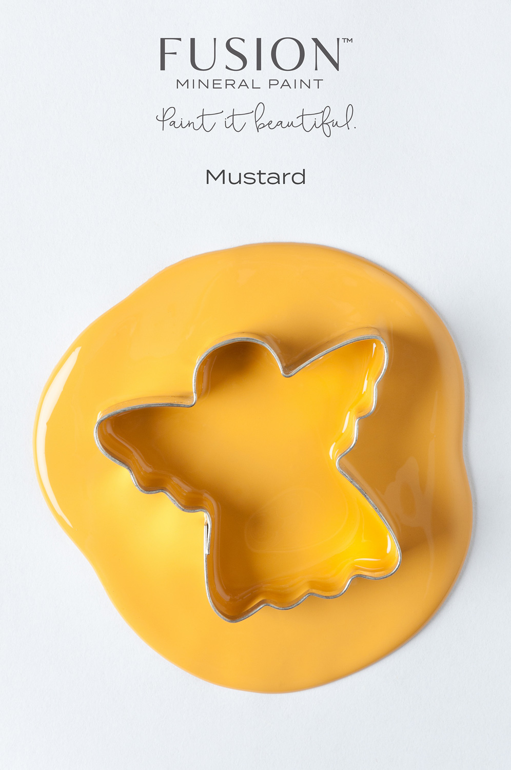 Fusion Mineral Paint in the colour Mustard. It's the perfect shade of yellow for the Holiday Season.