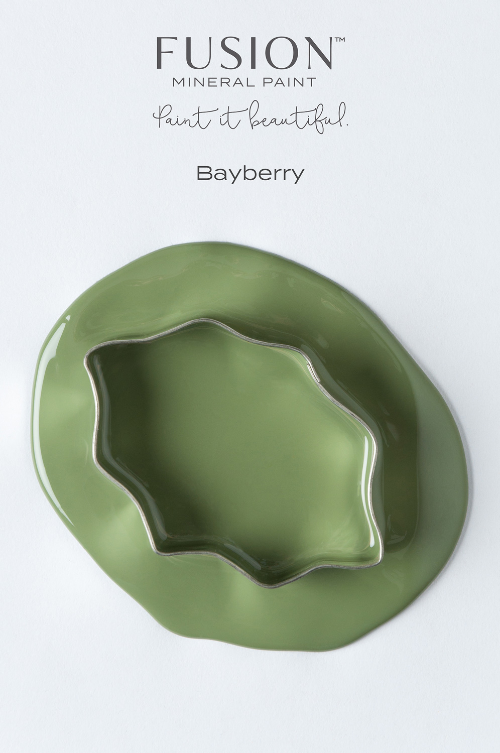 Fusion Mineral Paint in the colour Bayberry. It's the perfect shade of green for the Holiday Season.