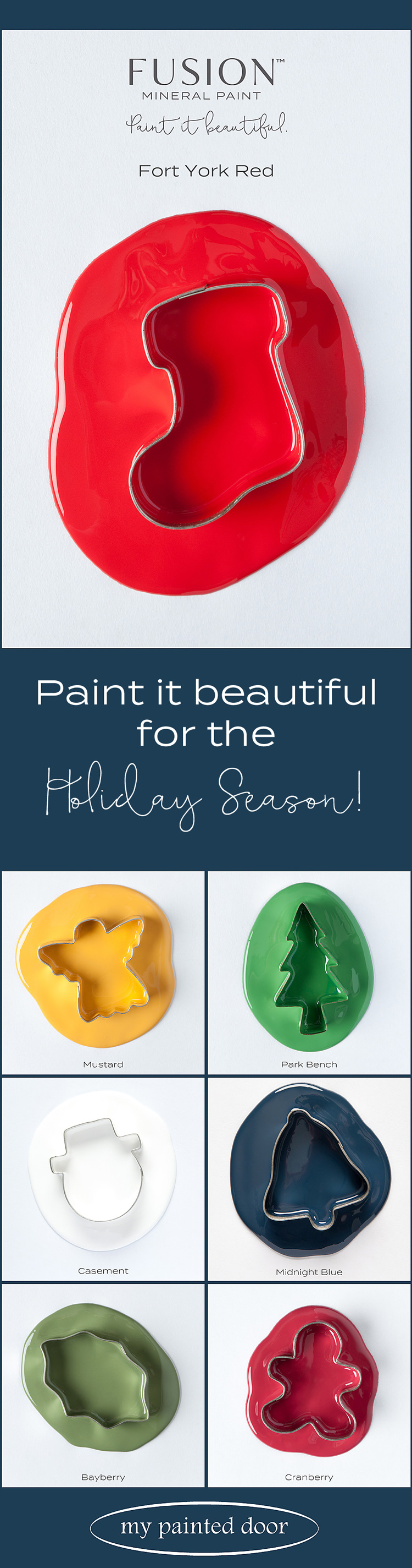 Seven gorgeous Fusion Mineral Paint colours perfect for the Holiday Season!