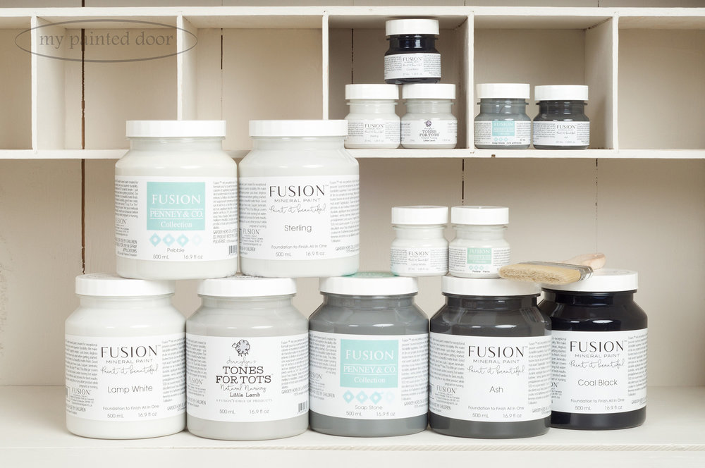 Fusion Mineral Paint has a great selection of colours available in both 500 ml and tester sizes