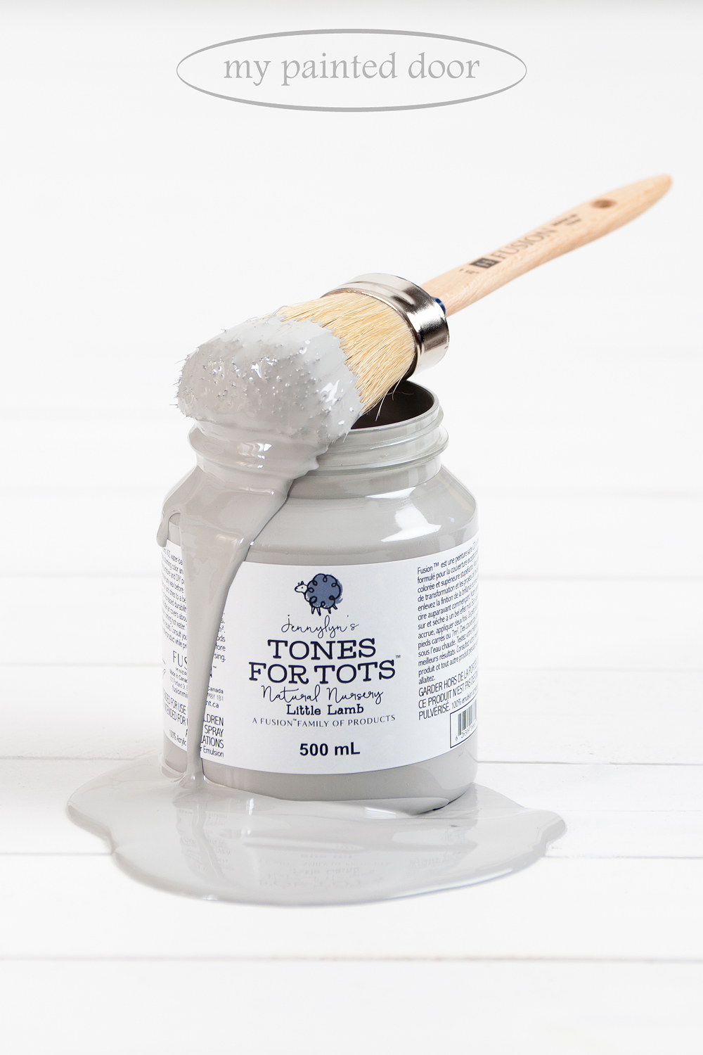 Little Lamb is part of the Jennylyn's Tones for Tots Collection of Fusion Mineral Paint, but let's face it - the colours in that line are certainly not just for tots! Little Lamb is one of my bestselling shades of grey.