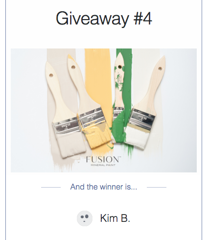 Winner of Giveaway #4