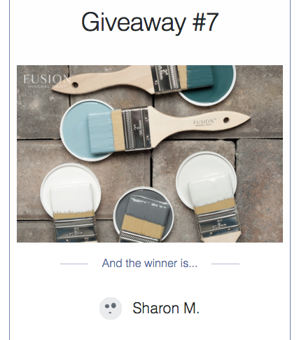 My Painted Door Giveaway #7 winner