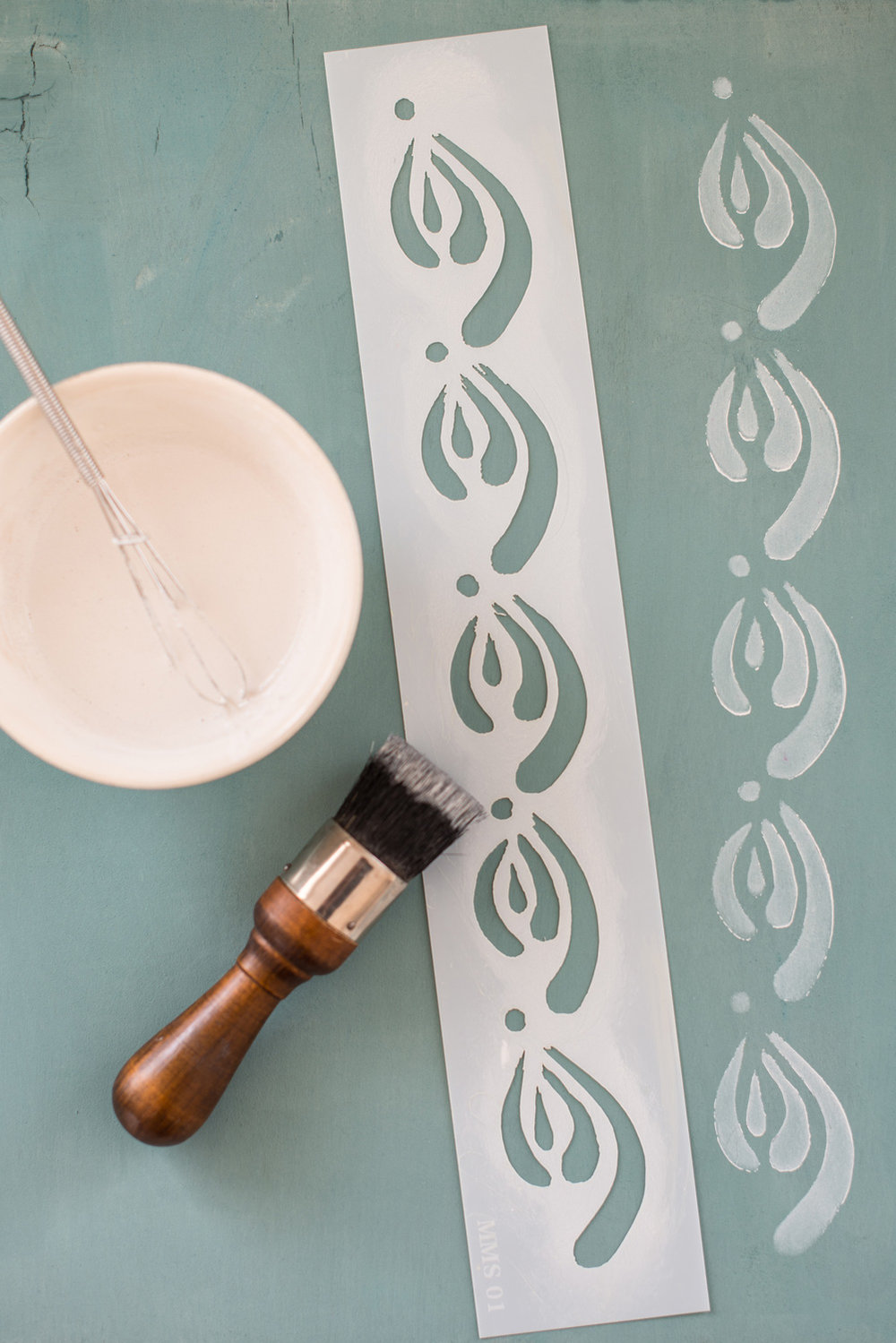 Kimbrough - Miss Mustard Seed's Milk Paint Stencil - available at My Painted Door