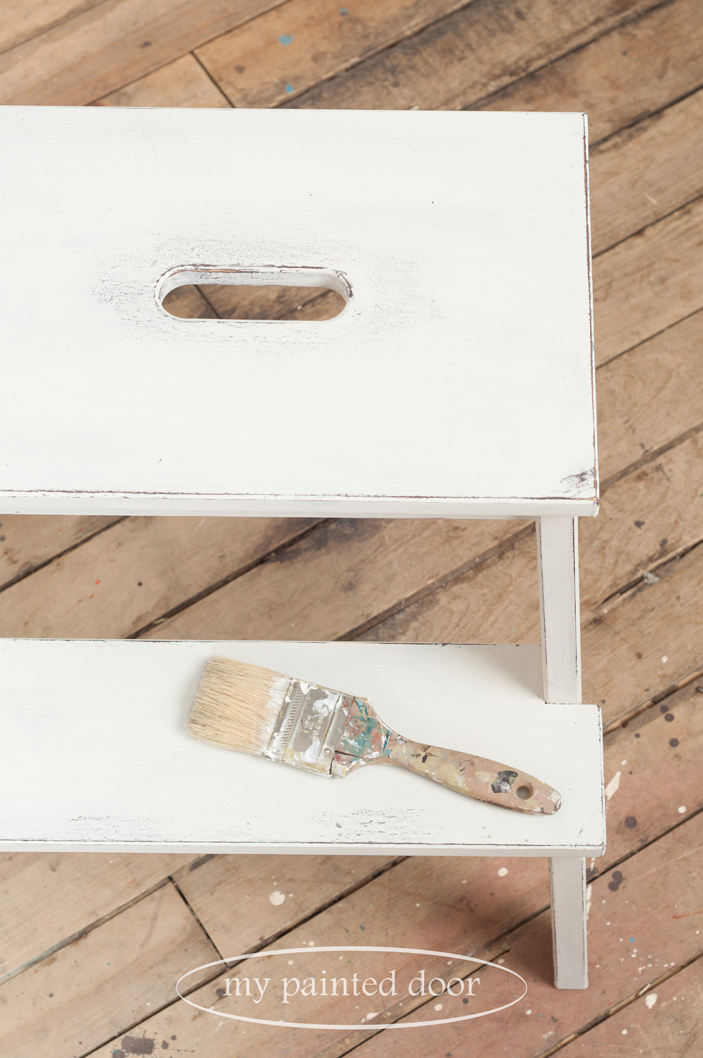 Farmhouse Stool Workshops using Miss Mustard Seed's Milk Paint