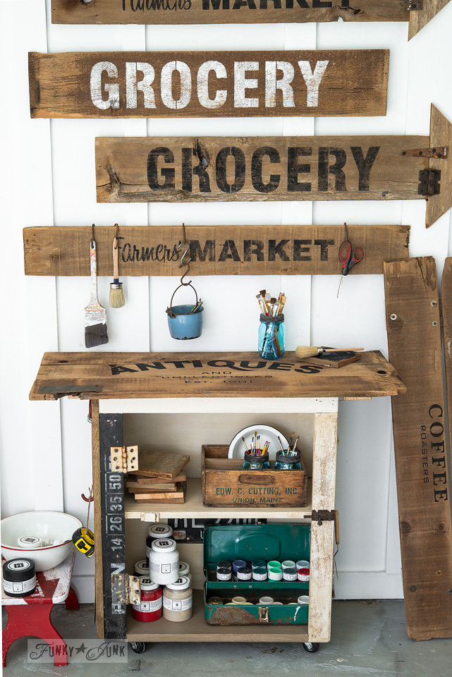 Grocery stencil by Funky Junk Interiors - available at My Painted Door