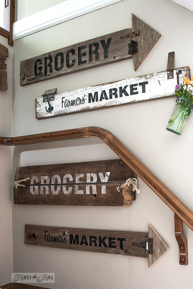 Farmers' Market stencil by Funky Junk Interiors - available at My Painted Door