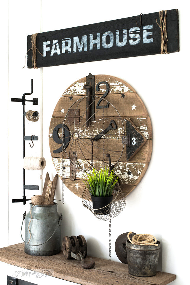 Farmhouse stencil by Funky Junk Interiors - available at My Painted Door