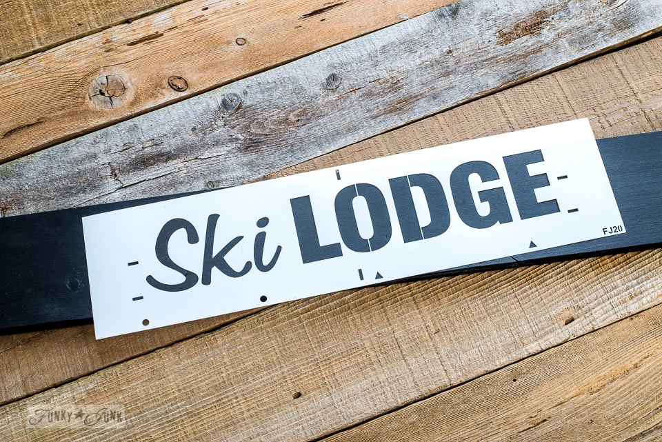 Ski Lodge stencil by Funky Junk Interiors - available at My Painted Door
