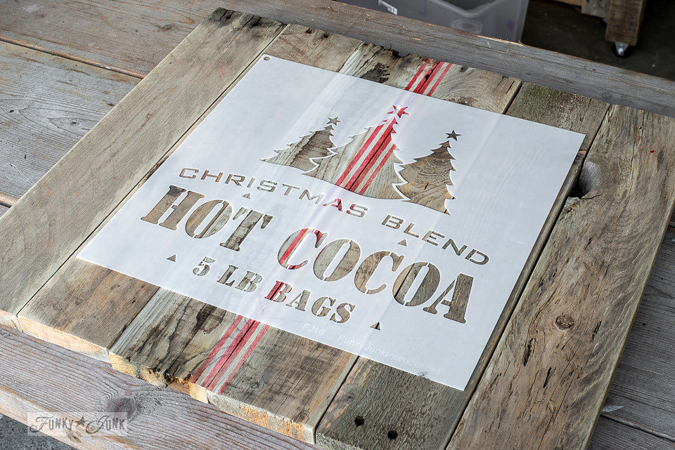 Christmas Blend Hot Cocoa stencil by Funky Junk Interiors - available at My Painted Door