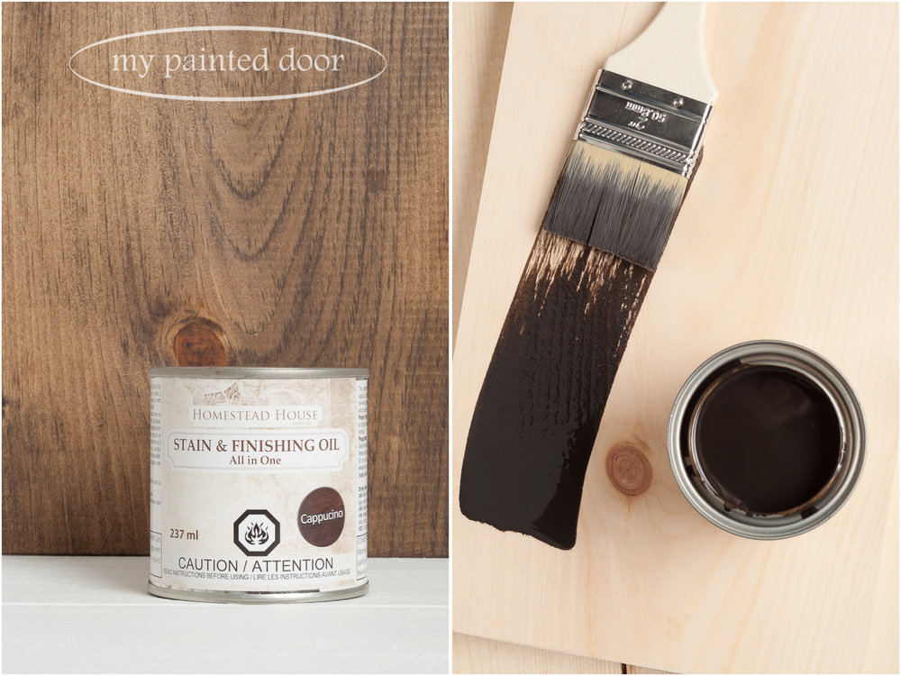 Homestead House Stain and Finishing Oil All in One -Cappuccino - available online at My Painted Door