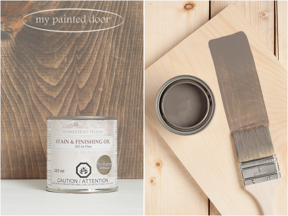 Homestead House Stain and Finishing Oil All in One -Driftwood - available online at My Painted Door