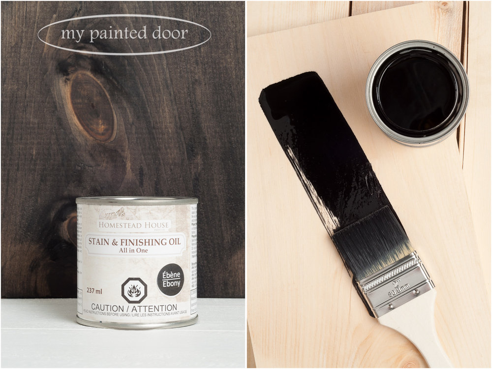 Homestead House Stain and Finishing Oil All in One -Ebony - available online at My Painted Door