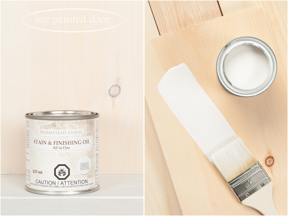 Homestead House Stain and Finishing Oil All in One - White - available online at My Painted Door
