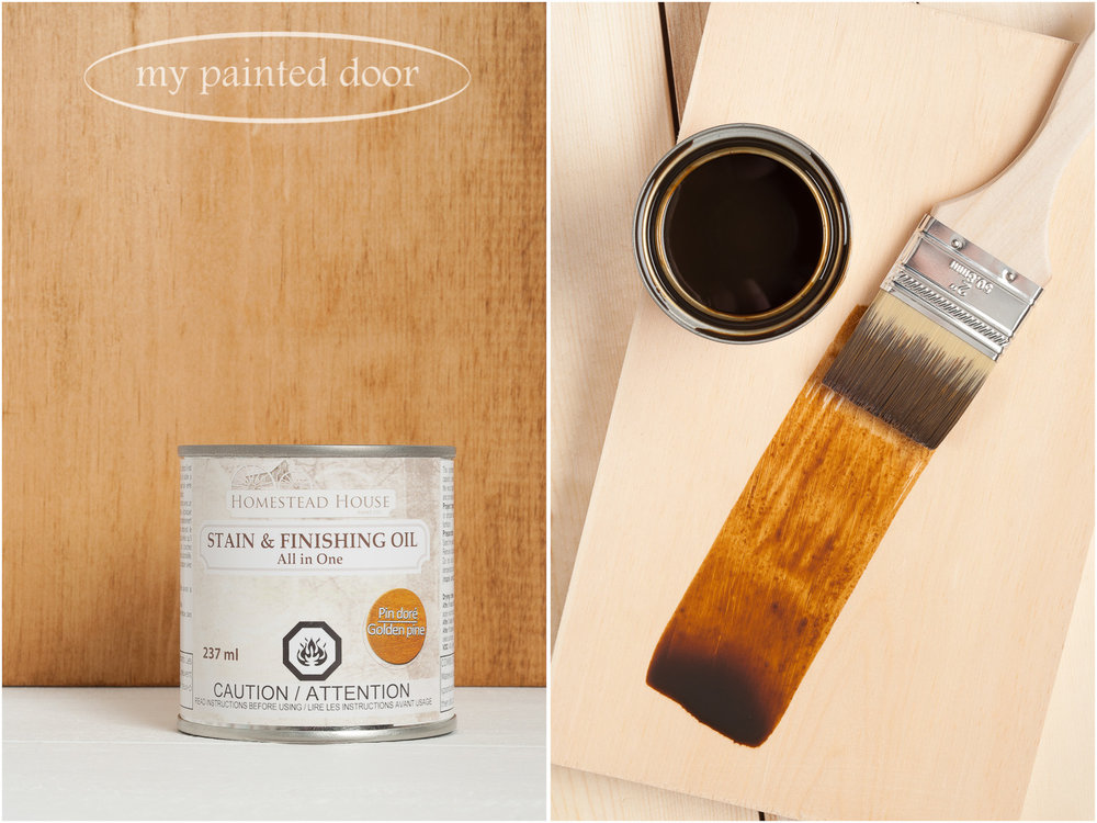 Homestead House Stain and Finishing Oil All in One - Golden Pine - available online at My Painted Door