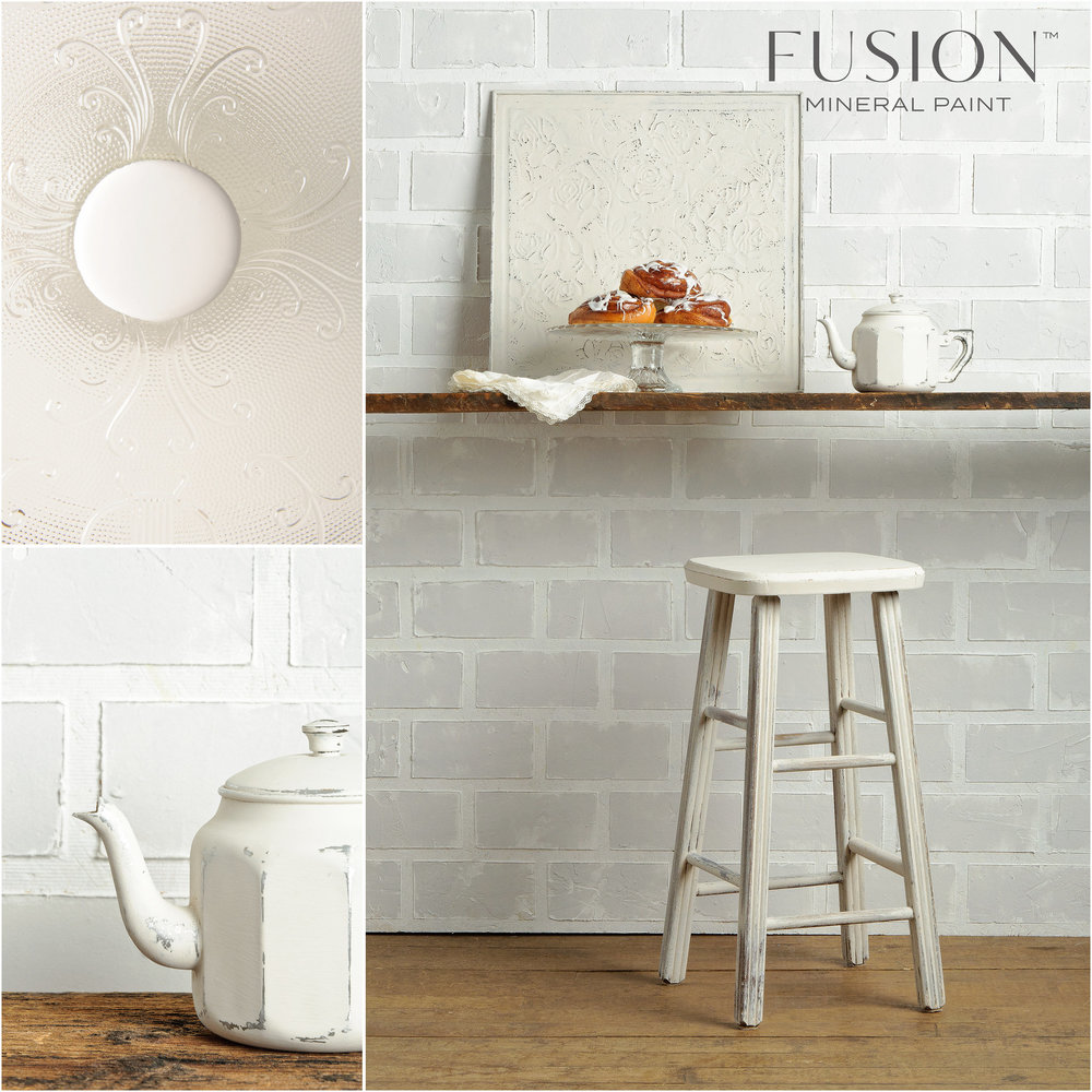 Stool, Wall Art and Teapot painted in Champlain Fusion Mineral Paint