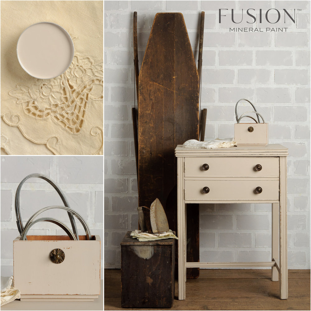 Sewing Machine Painted in Cathedral Taupe Fusion Mineral Paint