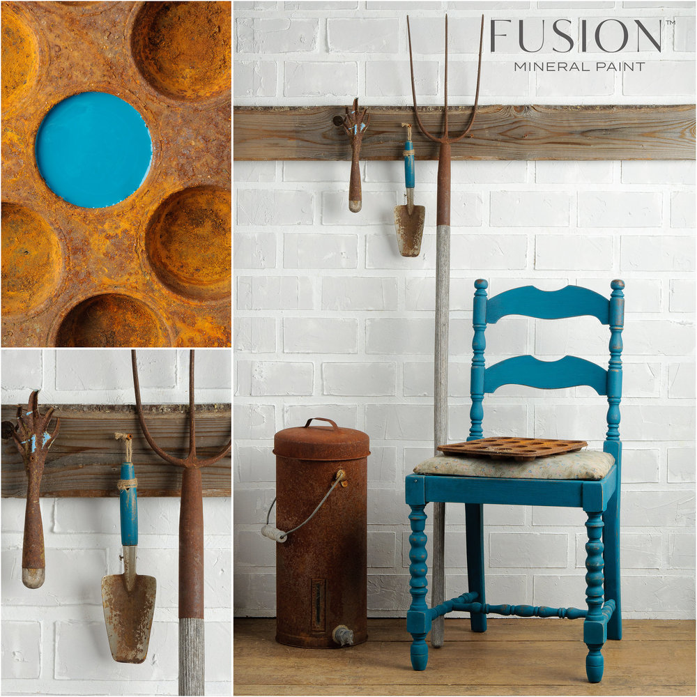 Renfrew Blue is our famous and super popular teal-blue. It looks great with yellows, reds and grey-taupes.