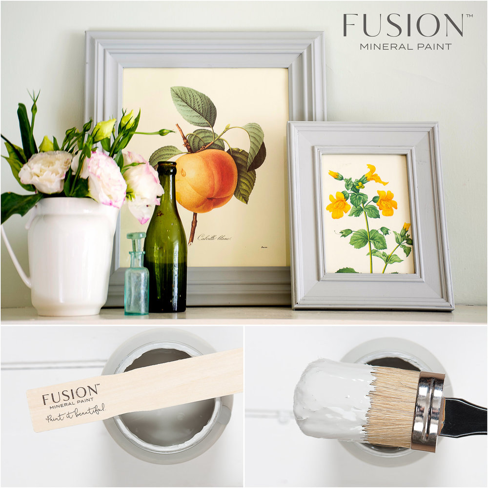 Picture Frames Painted in Fusion Mineral Paint Pebble