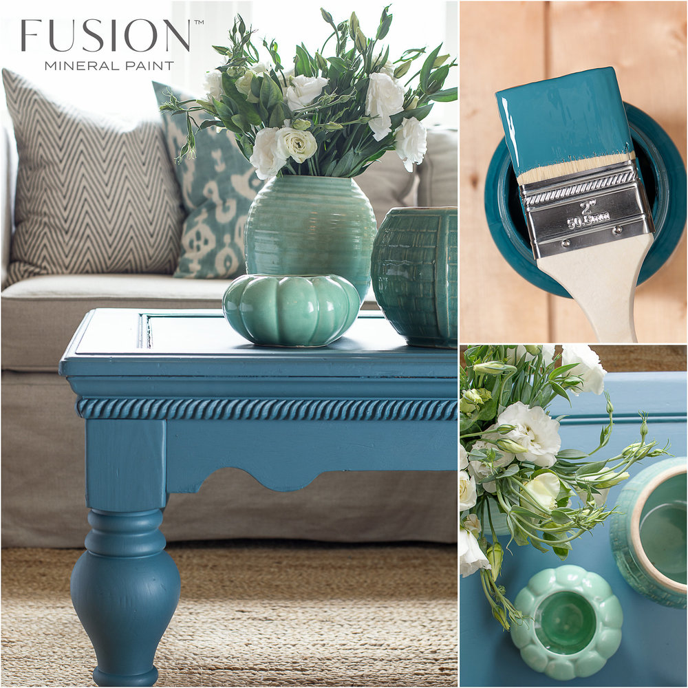 Coffee Table Painted in Seaside Fusion Mineral Paint