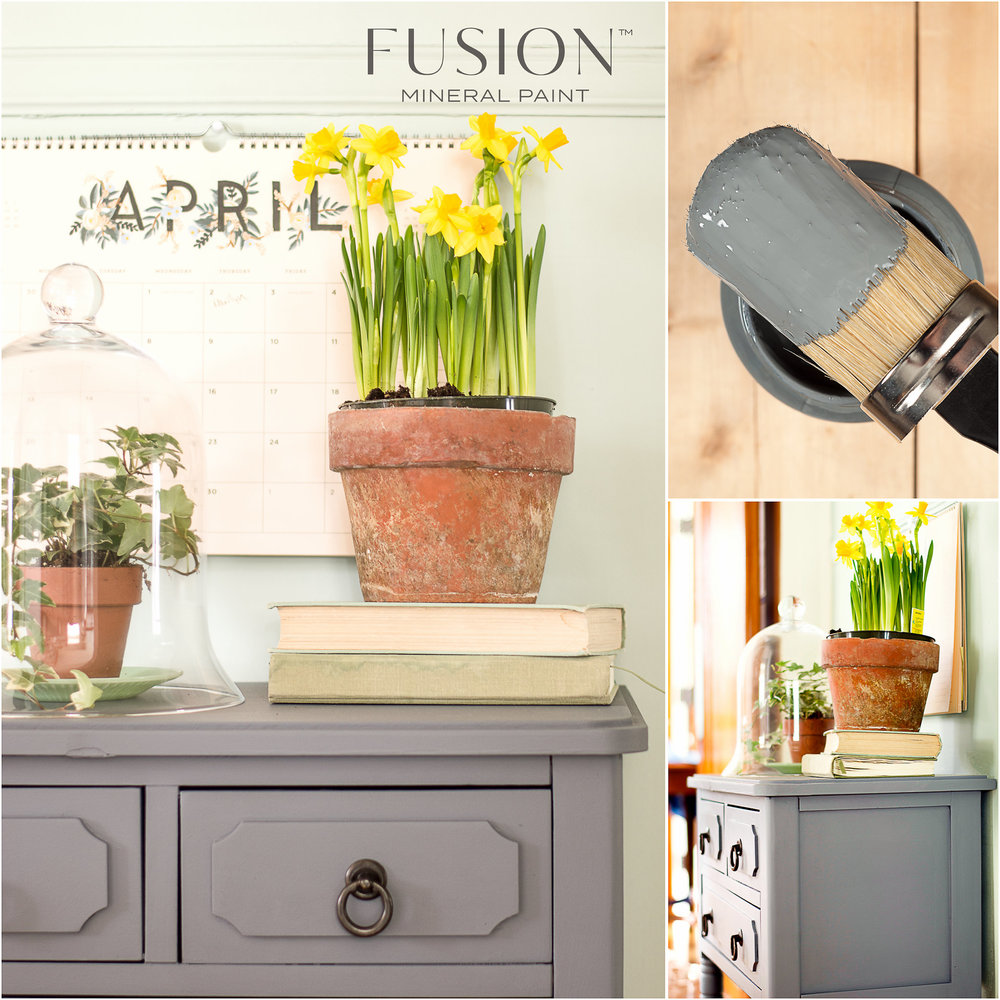 Dresser Painted in Fusion Mineral Paint Soapstone
