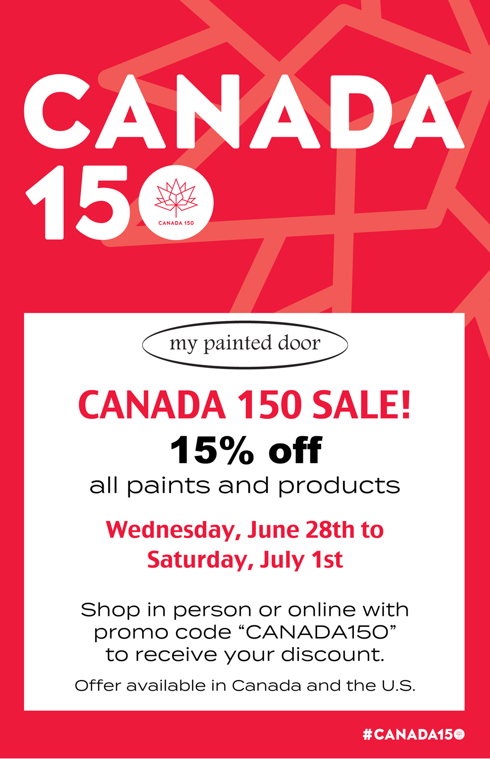 We're celebrating Canada's 150th Birthday!!