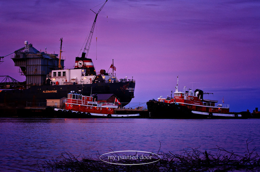 Tugboats on the shores of Lake Superior - Thunder Bay, Ontario. Photography by Sue Sikorski